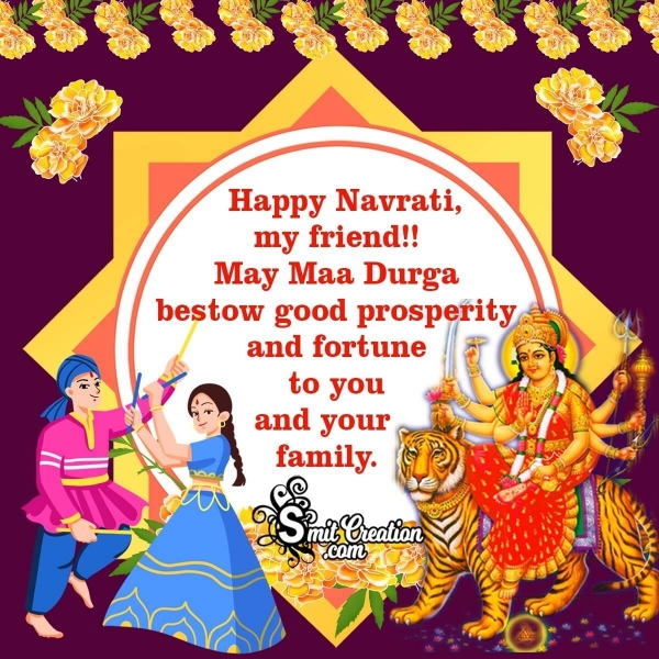 Navratri Wishes For Friends and Family