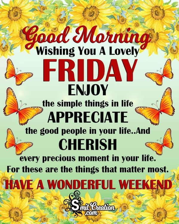 Wishing You A Lovely FRIDAY