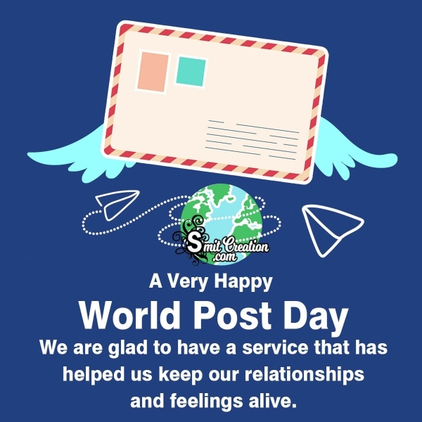 World Post Office Day Status For Facebook, Whatsapp