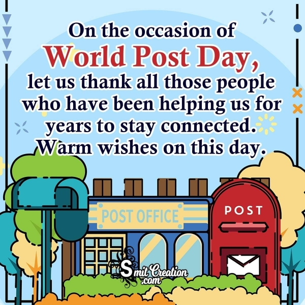Warm Wishes on World Post Day