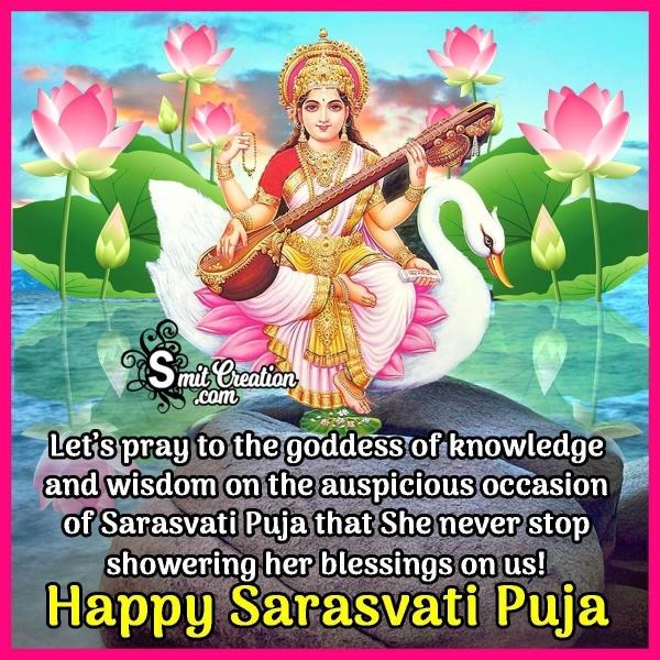 Happy Sarasvati Puja Status Image