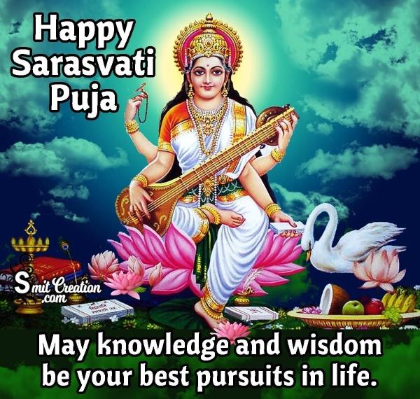 Happy Sarasvati Puja Wish Image