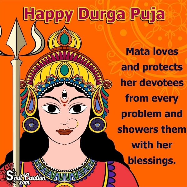 Happy Durga Puja Wishes for Friends