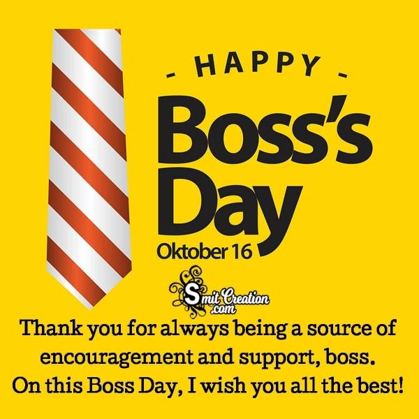 16 October Happy Boss Day