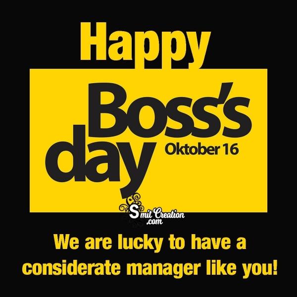 October 16 Happy Boss Day