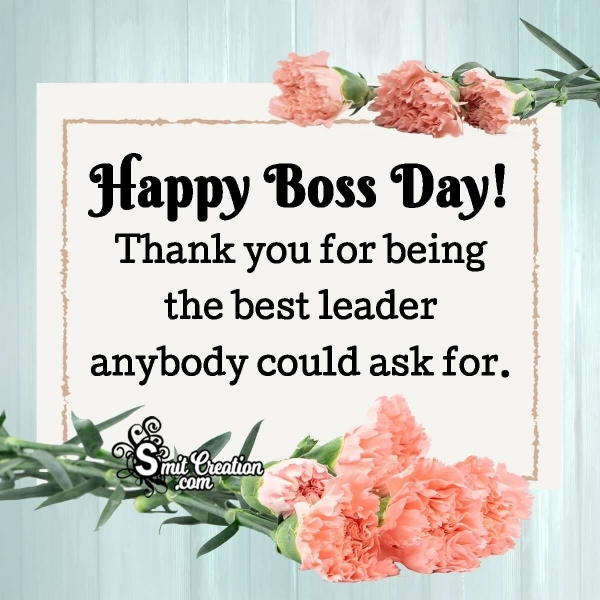 Happy Boss Day Thank You Messages
