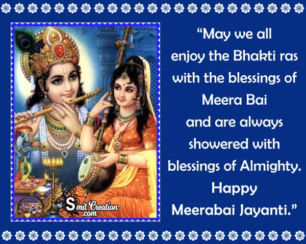 Happy Meerabai Jayanti Blessings