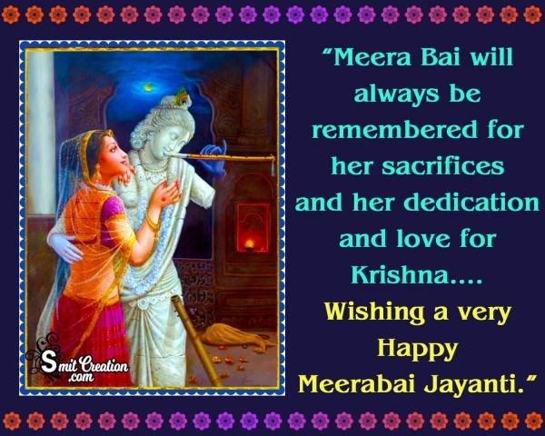 Happy Meerabai Jayanti Messages
