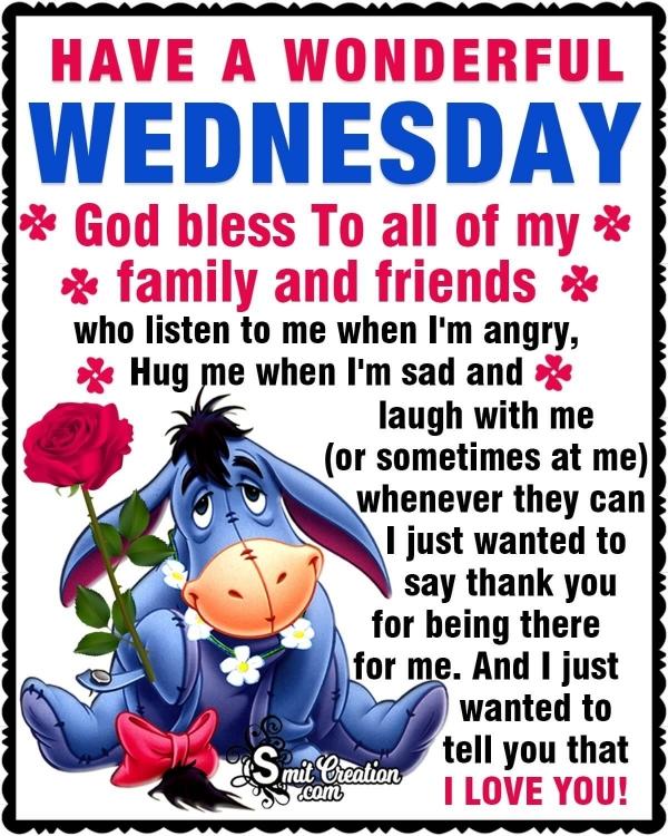 Wonderful Wednesday Thank You Message