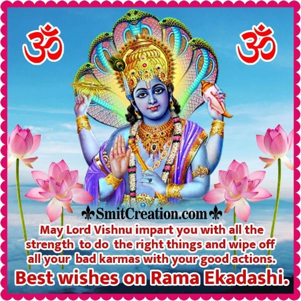 Best Wishes On Rama Ekadashi