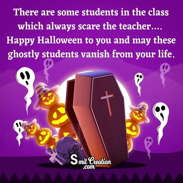 Happy Halloween Wishes for Teachers
