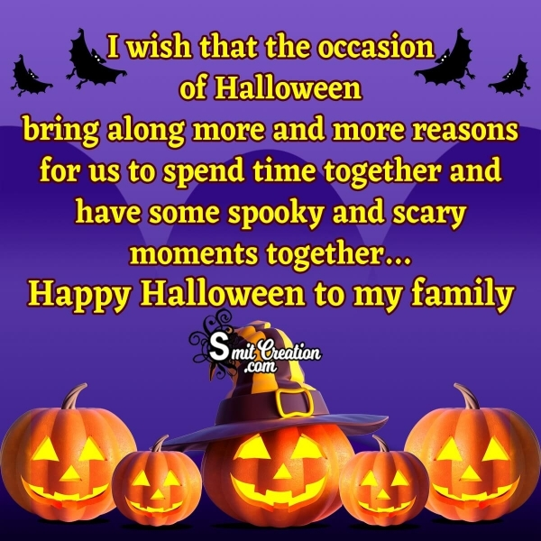 Happy Halloween Wishes for Family