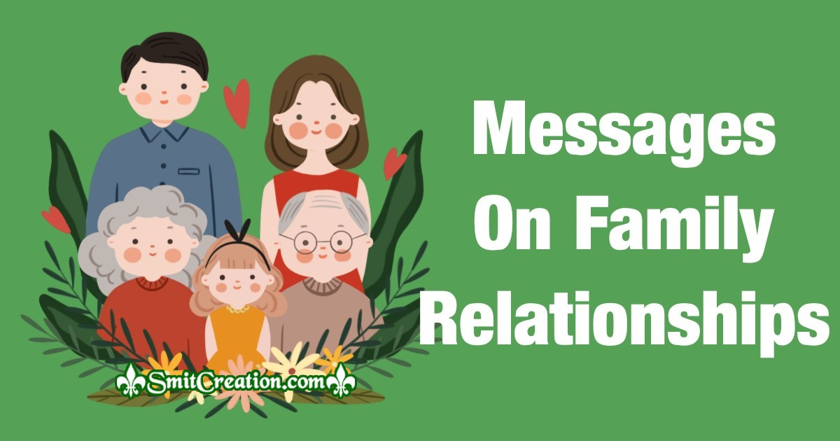 Messages On Family Relationships
