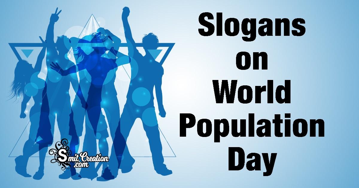 Slogans on World Population Day
