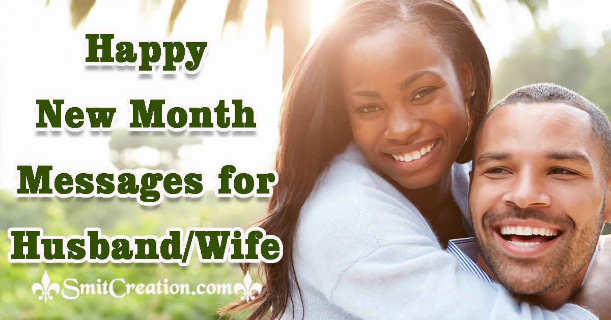 Happy New Month Messages for Husband Wife