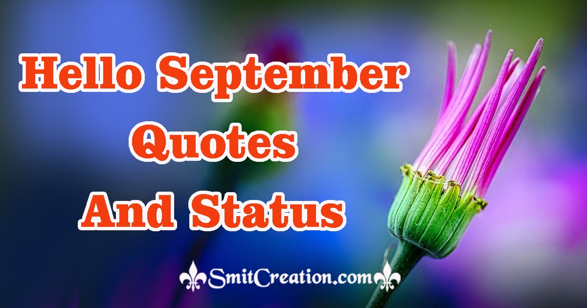 Hello September Quotes And Status