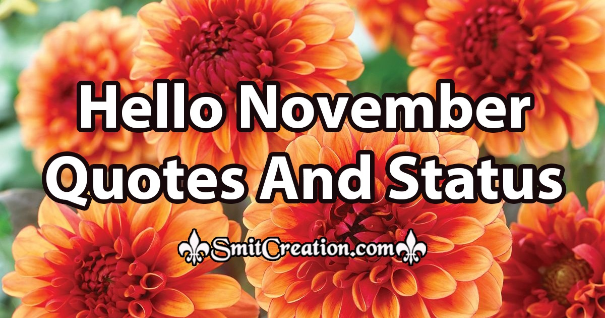 Hello November Quotes And Status