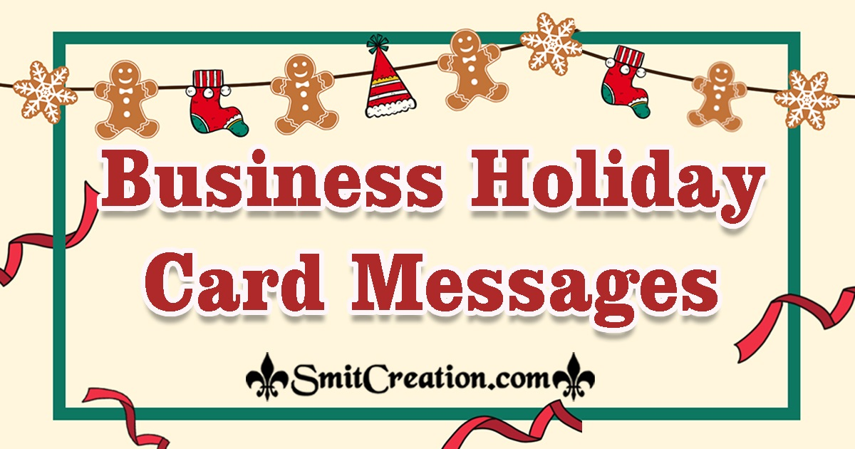 Business Holiday Card Messages