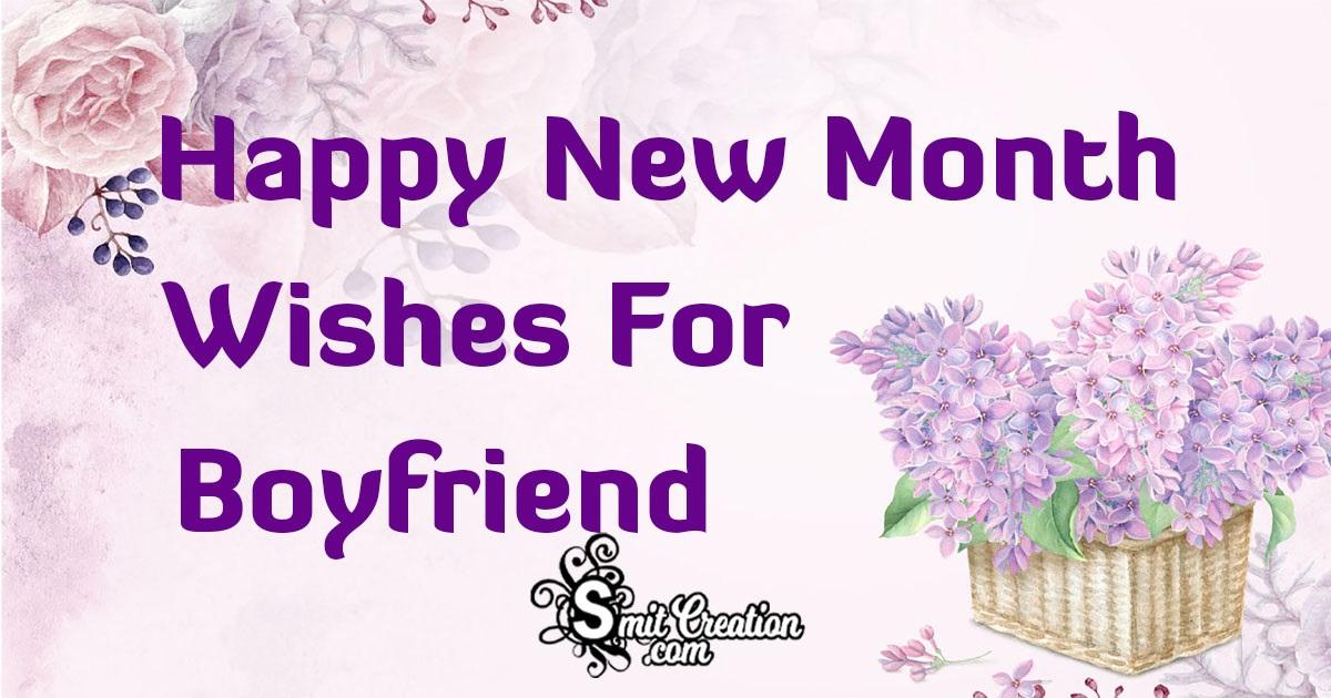 Happy New Month Wishes For Boyfriend