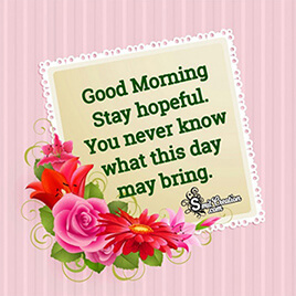 Good Morning Inspirational