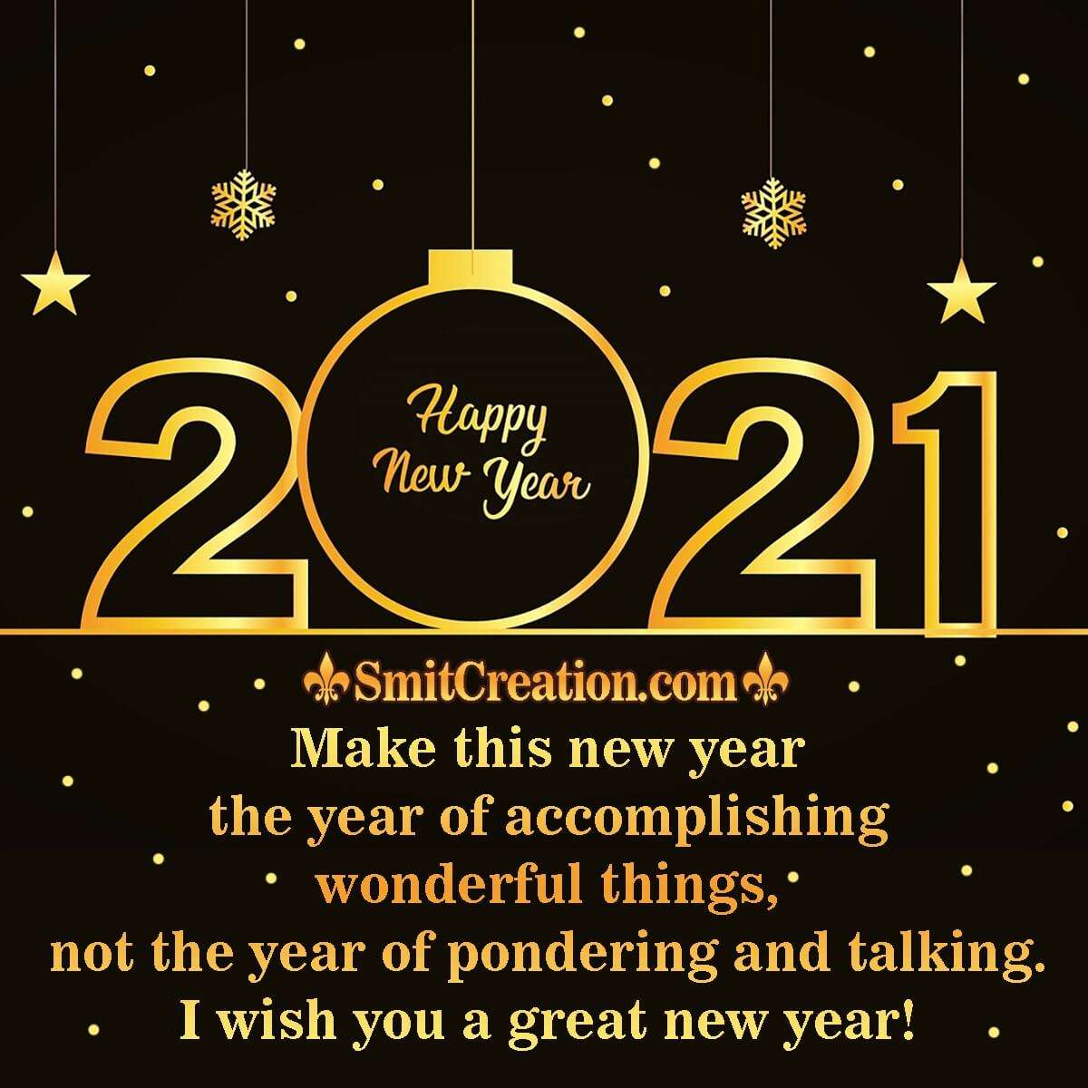 A Great Happy New Year 2021