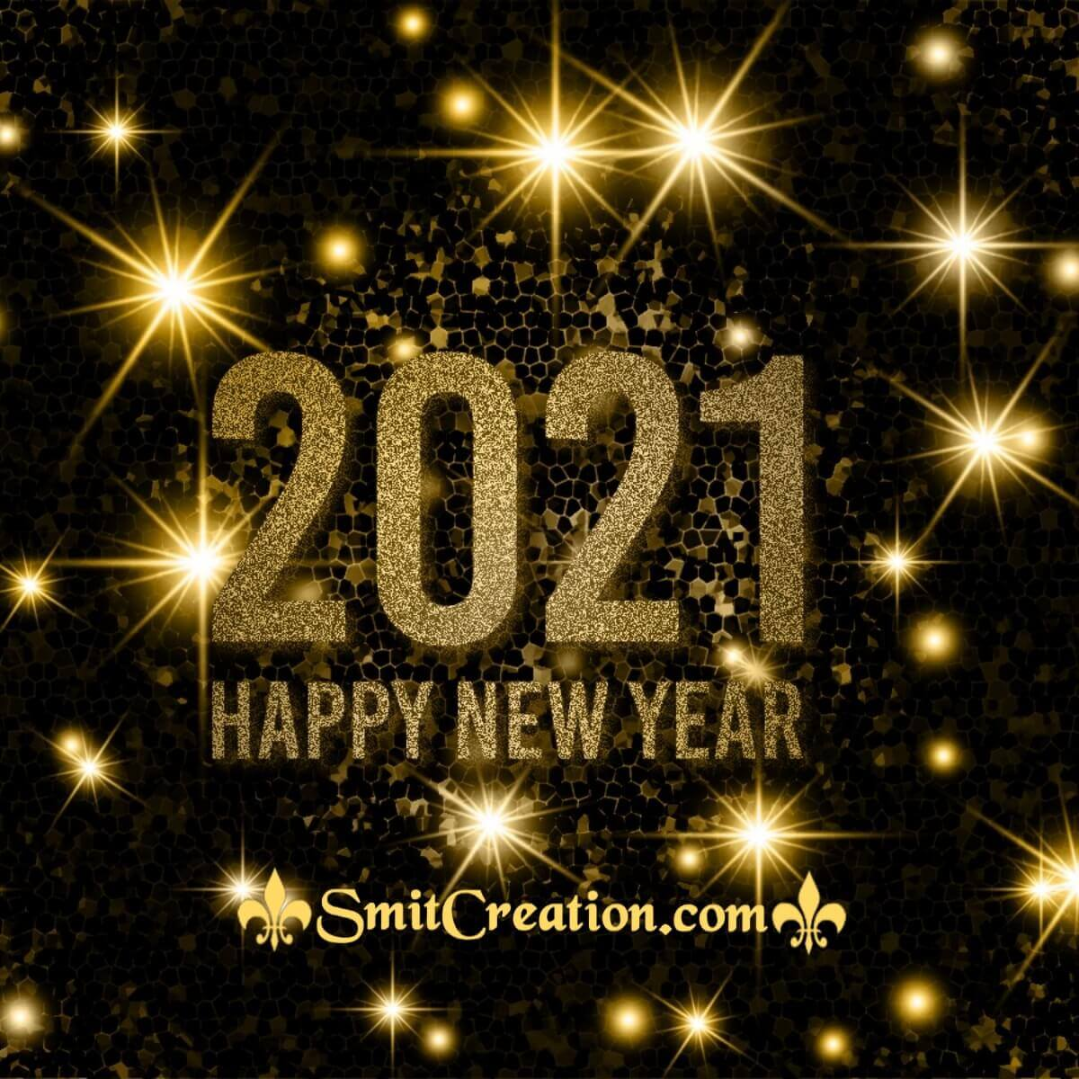 Golden Happy New Year 2021